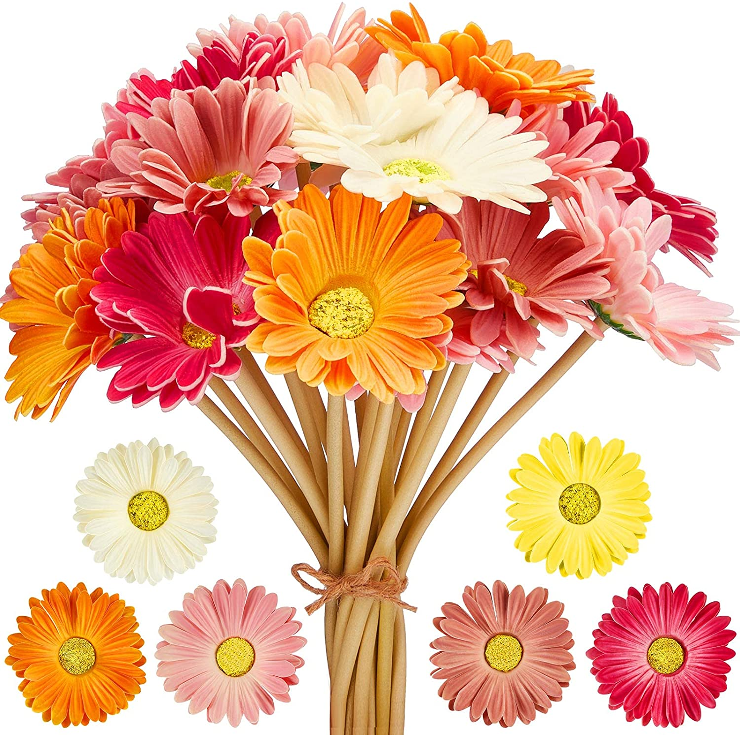 Latest item Artificial Daisy Flowers Fake Gerbera Online limited product D