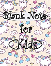 Blank Note for Kids: Blank Note for Kids Unicorn Cover Cute Memo Paper for Sketching, Drawing, Whiting, Journal