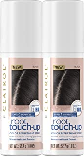 Clairol Root Touch-Up Spray, Black, 2 Count