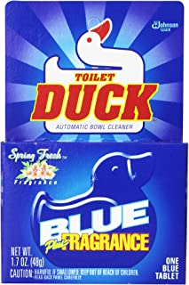 Toilet Duck Automatic Blue Single Tablet, 1.7 oz, (Pack of 12)