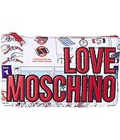 LOVE Moschino - Logo Clutch w/ Strap