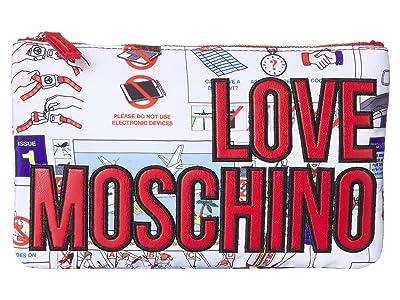 LOVE Moschino Logo Clutch w/ Strap (Fantasy Color A) Handbags