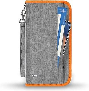 Vemingo Passport Wallet Grey Grau +オレンジ25 x 14 x 2.5 cm