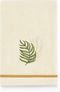 Tommy Bahama Palmiers Fingertip Towel, 18 x 11, Ivory