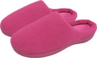 Finoceans Slippers House Womens Soft Coral Fleece Memory Foam Shoes Indoor Outdoor