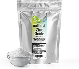Milliard Zinc Oxide Powder 8 oz Non-nano, Uncoated Great For DIY Sunscreen and suntan Lotion USP Grade - 8 Ounce Bulk