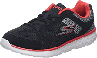 Skechers Kids Girls' GO Run 400-Sparkle Sprinters Sneaker,Black/Hot