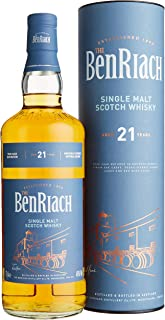 The BenRiach Benriach 21 Years Old Four-Cask Maturation Single Malt Scotch Whisky mit Geschenkverpackung 1 x 0.7 l