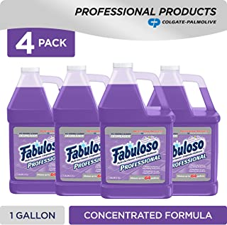 FABULOSO Professional All Purpose Cleaner & Degreaser, Lavender, Concentrated Formula, Bathroom Cleaner, Toilet Cleaner, Floor Cleaner, Shower Cleaner, Glass Cleaner 1 Gallon (Pack of 4) (US05253A )