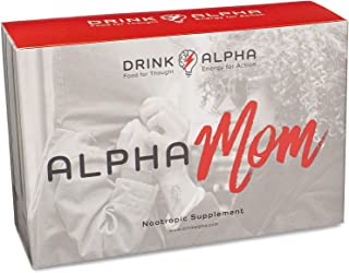 AlphaMom Berry Brain Booster Daily Drink Mix   Fast-Acting Nootropic Supplement for Long-Lasting Energy + Focus & Improved Memory + Mood   20 On The Go Packets   Ashwagandha + B Complex + No Crash