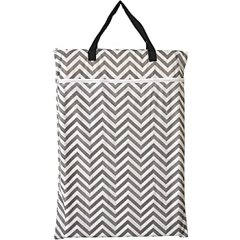 Large Hanging Wet/Dry Cloth Diaper Pail Bag for Reusable Diapers or Laundry (Chevron)