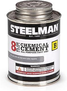 Steelman Cimento vulcanizador químico para reparos de pneus e tubos de borracha - 227 g de secagem rápida, contém acelerad...
