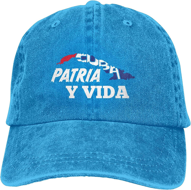 Garitin Cuba Libre Patria Y Vida Hats Baseball Cap Men Women Washable Adjustable Cotton Trucker Cap
