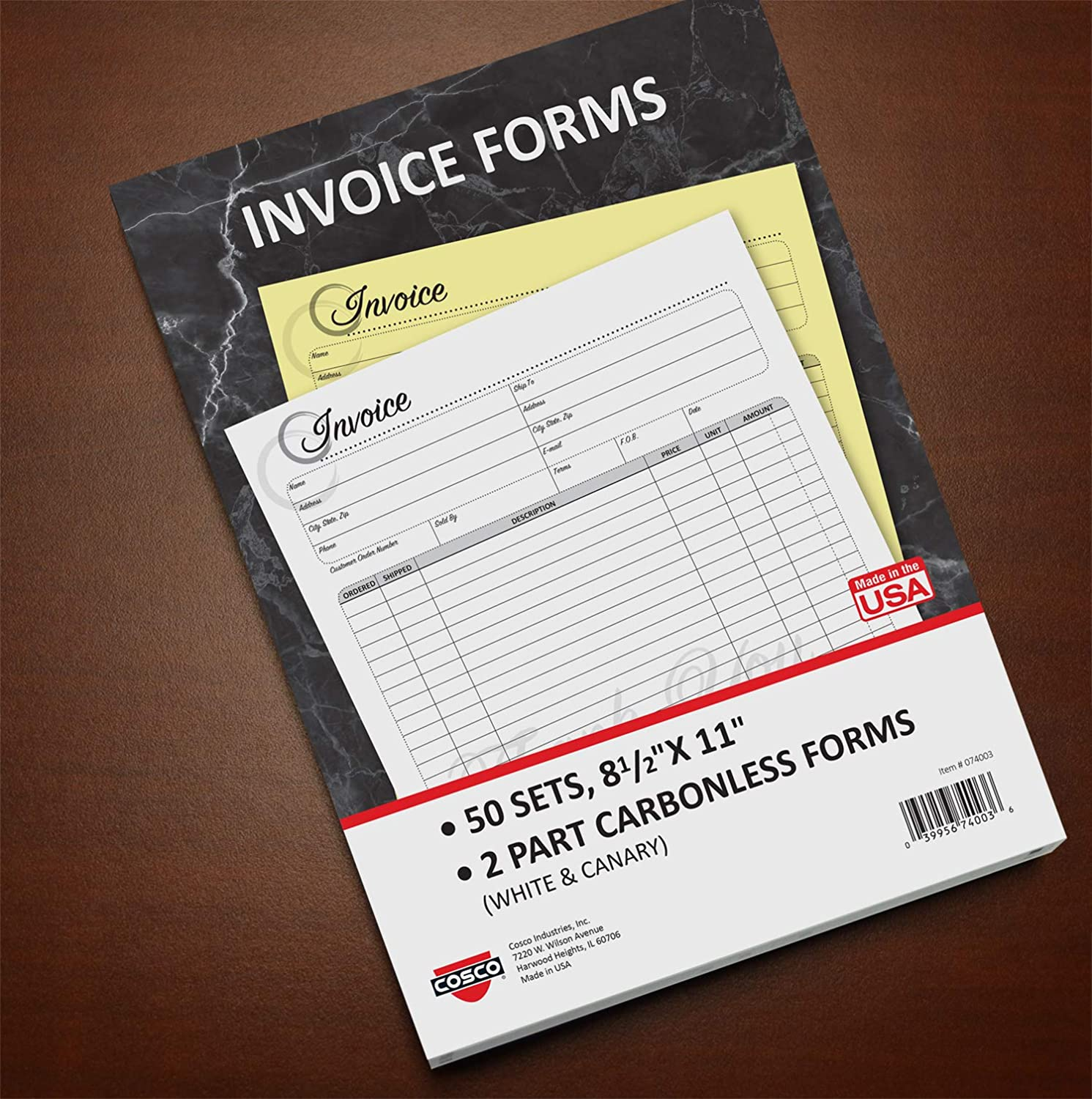 Lowest price challenge Cosco Invoice Form Book with Slip Artistic 8 Popular overseas 2-Par 11