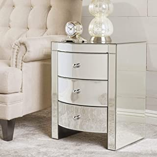 Amazon.com: Glass - Nightstands / Bedroom Furniture: Home ...