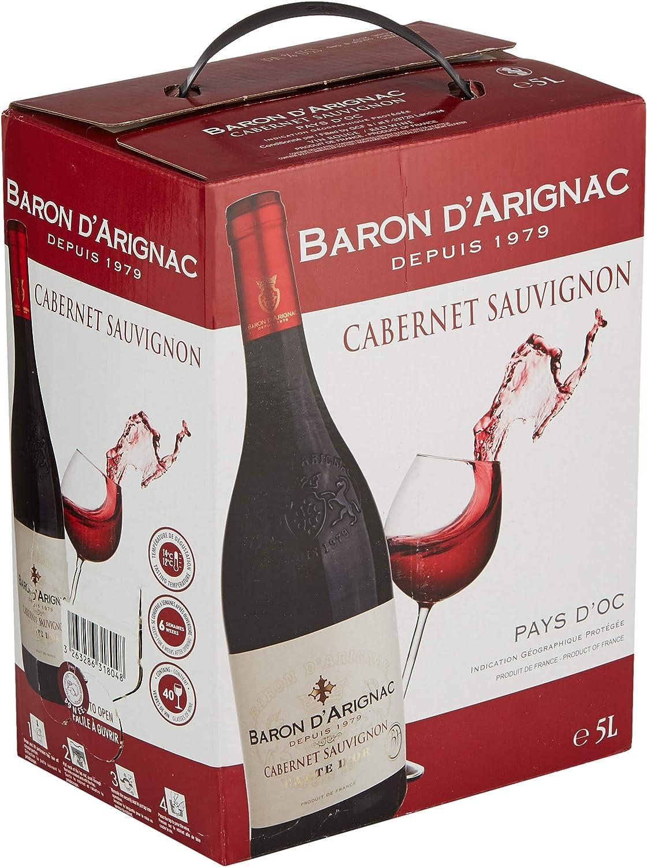 Baron D Arignac Cabernet Sauvignon Bag In Box 5 L Amazon Co Uk Grocery