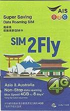 Prepaid Sim-Karte Asien - 14 Länder - 4GB Daten 3G / 4G - 8