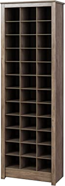 Prepac Shoe Storage Cabinet, 36 Pair Rack, Drifted Gray