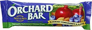 Orchard Bars Non-GMO Fruit & Nut Bars, Blueberry Pomegranate Almond, 1.4 Ounce (Pack of 12)