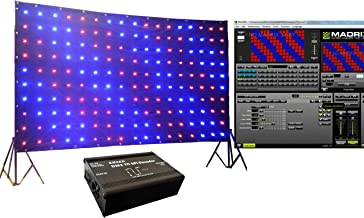 KHXED 510CH 170 LEDs LED Vision Curtain for Mobile DJ Band night club stage backdrop