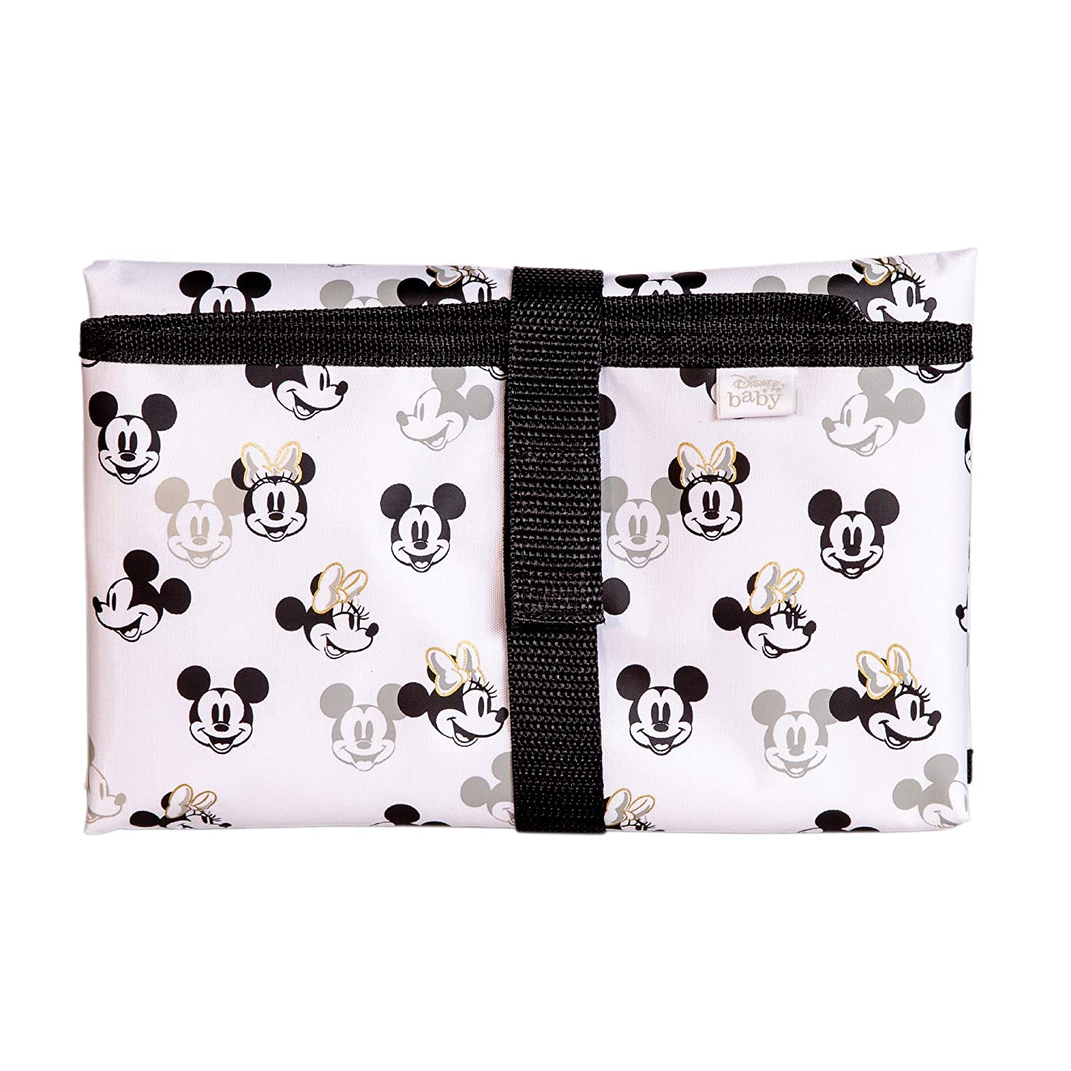 Disney Baby by J.L. Childress Full Body Portable Changing Pad for Baby, Mickey Minnie Ivory