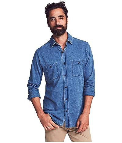Faherty Knit Seasons Shirt (Medium Indigo Wash) Men
