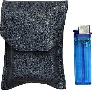 Astuccio porta sigarette custodia in vera pelle pregiata e riciclata effetto vintage col. Petrolio fatto a mano in Italia ...