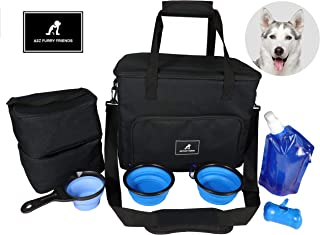 Cat Dog Puppy Travel Bag Pet Tote Organizer Luggage With Bowls