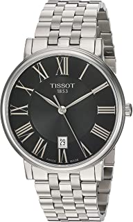 Tissot unisex-adult Carson Stainless Steel Dress Watch Grey T1224101105300