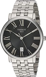 Tissot Unisex Carson Swiss Quartz Stainless Steel Dress Watch (Model: T1224101105300)