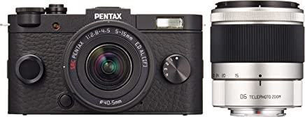 Pentax Q System Q-S1 12.4MP Double zoom kit with 5-15mm f/2.8-4.5 and 06 TELEPHOTO ZOOM (Black)