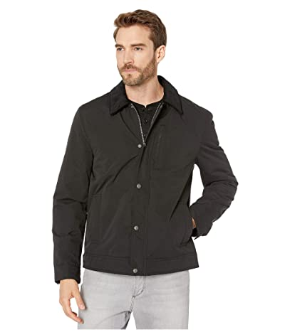 Cole Haan City Rain Padded Barn Jacket with Corduroy Collar (Black) Men