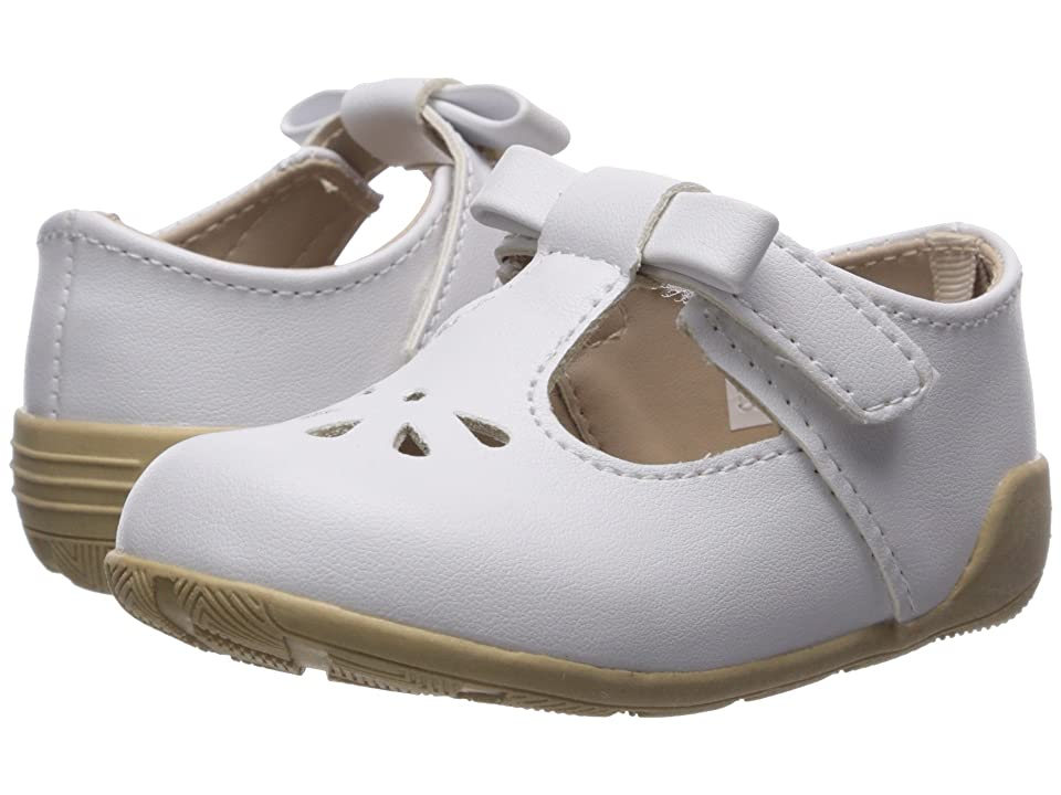 Baby Deer First Steps T-Strap with Cut Outs (Infant/Toddler) (White) Girl