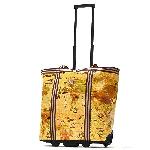 Olympia Luggage Cosmopolitan Rolling Shopper Tote