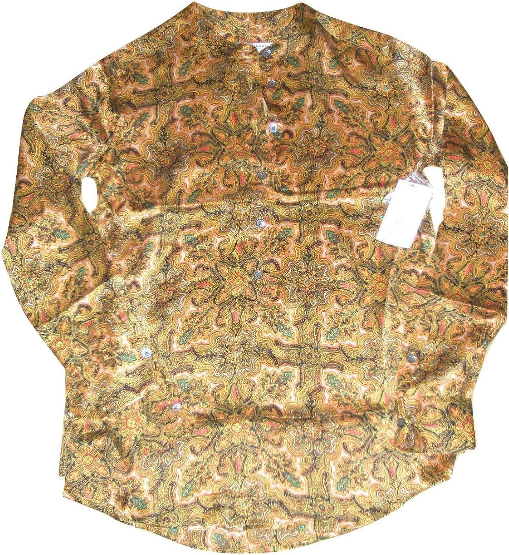 Equipment Ava Clean Paisley Print Blouse golden Poppy Shirt S
