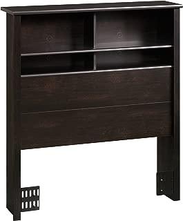 Sauder County Line Bookcase Headboard, Twin, Estate Black finish
