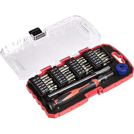 Amazon Basics Juego de destornillador y puntas de precisión, 51 piezas