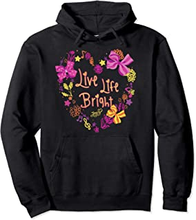 Live Life Bright Flowers And Bows Hoodie