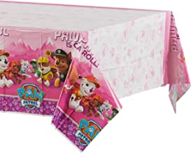 American Greetings Plastic Table Cover for Arts & Crafts, Pink Paw Patrol Party Supplies (1-Count)