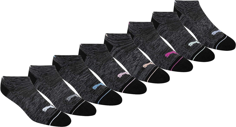 PUMA womens 8 Pack Low Cut Socks