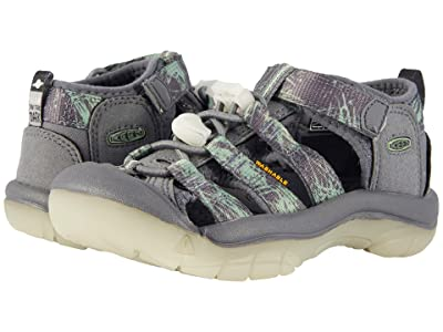 Keen Kids Newport H2 (Toddler/Little Kid) (Steel Grey/Glow) Boys Shoes