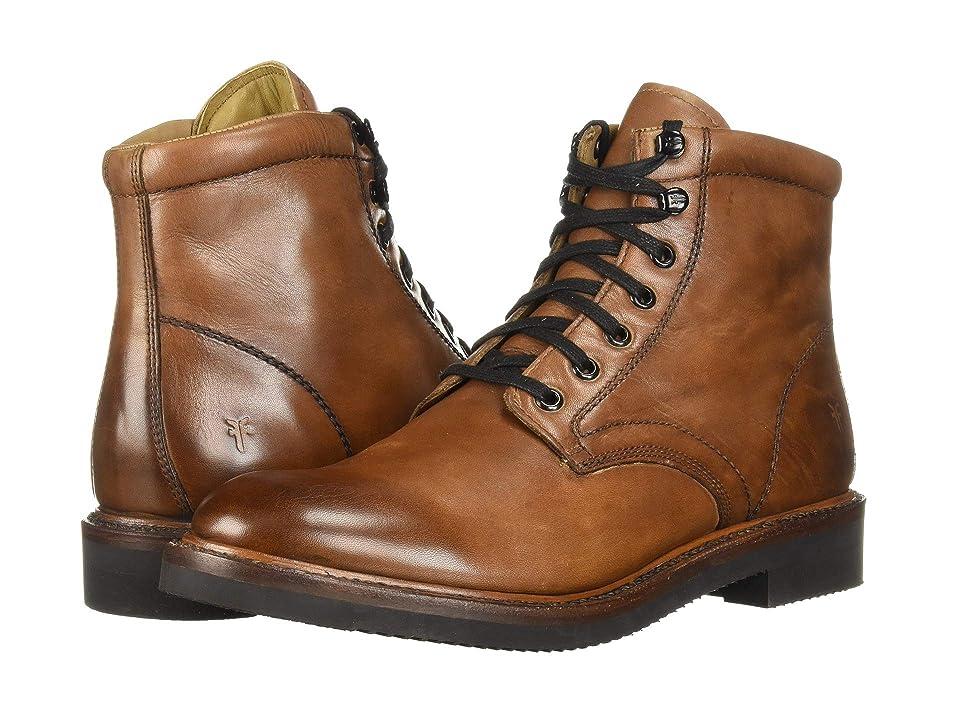 Frye Gordon Lace-Up (Cognac Hammered Dip-Dye Leather) Men