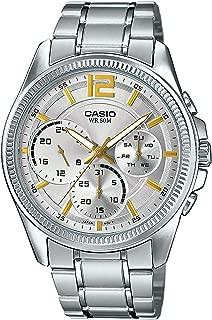 Enticer Analog chrongraph Silver Dial Watch - MTP-E305D-7A