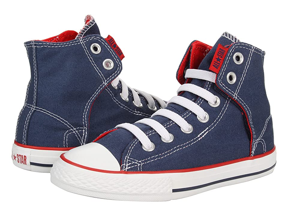 Converse Kids Chuck Taylor(r) All Star(r) Easy Slip (Little Kid/Big Kid) (Navy) Boys Shoes