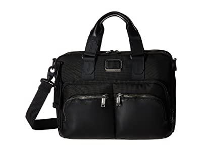 Tumi Alpha Bravo Albany Slim Commuter Brief (Black) Briefcase Bags
