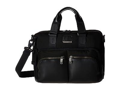 Tumi Alpha Bravo Albany Slim Commuter Brief (Black) Briefcase Bags