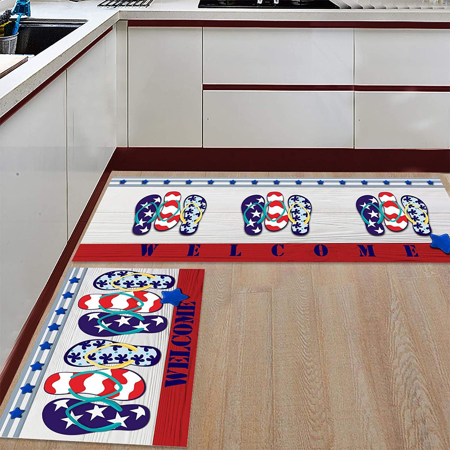 Greday Anti Fatigue Set of 2 Sets Ranking TOP15 Kitchen Sale Special Price Summer Rug Sli Welcome