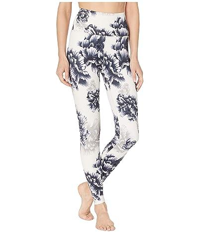 Beyond Yoga Olympus High-Waisted Midi Leggings (Sandstone Peony Floral) Women