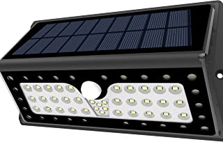 SOLAR LIGHTS Lampat Outdoor 62 LEDs Super Bright Motion Sensor Lights with Wide Angle Illumination Wireless Waterproof Sec...