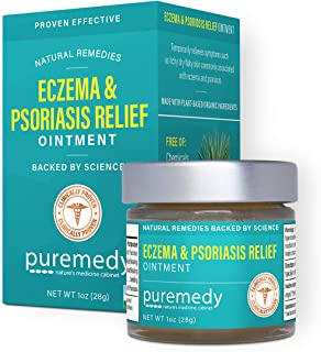 Puremedy Eczema and Psoriasis Relief Salve, Homeopathic Remedy for Temporary Soothing Relief of Dry, Itchy Skin (1oz)